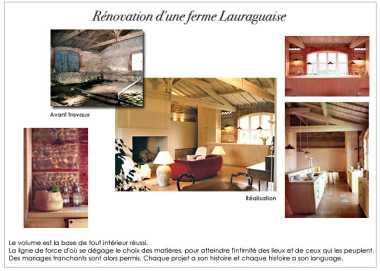 Rénovation d'une ferme Lauraguaise